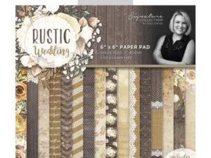 S-RW-PAD6 Crafters Companion Papirsblok, Rustic Wedding-0