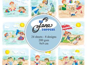 BLT007 By Lene Toppers, Summer Kids i farver-0