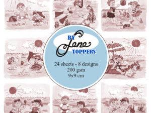 BLT008 By Lene Toppers, Summer Kids sepia-0