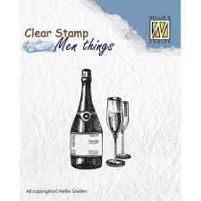 CSMT003 Nellie Snellen Clearstamps - Men Things - Wine-0