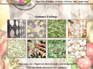 PPL003 Dixi Craft Papirspakning, Summer Feelings, farver -0