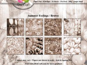 PPL004 Dixi Craft Papirspakning, Summer Feelings, Brown-0