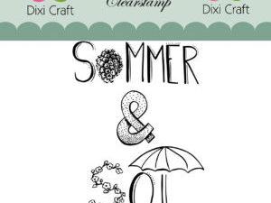 STAMPL007 Dixi Craft Clearstamp, Sommer og sol-0