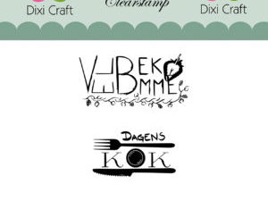 STAMPL008 Dixi Craft Clearstamp, Velbekomme og Dagens kok-0