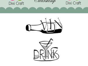 STAMPL009 Dixi Craft Clearstamp, Vin og Drink-0