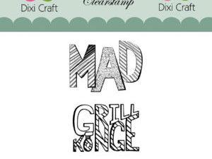 STAMPL010 Dixi Craft Clearstamp, Mad og Grillkonge-0
