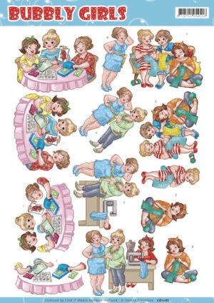 CD11161 Yvonne Design 3D 1 ark Bubbly Girls-0