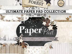 PPFF87 Studiolight Papirblok Frosen Forest-0