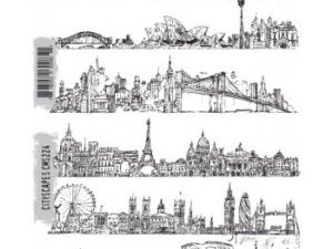 """CMS224 Stampers Anonymous Tim Holtz """"Cityscapes"""" -0"""