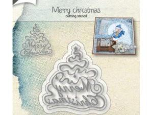 6002/1054 JOY Die Cut Merry Christmas-0