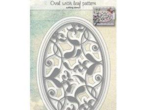 6002/1074 JOY Die Cut Oval With Leaf Pattern-0