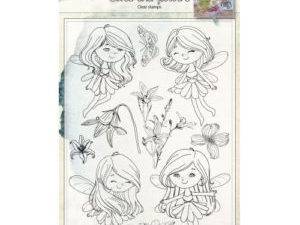 6410/0483 JOY Clearstamp Fairies & Flowers-0