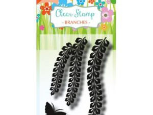 6410/0490 JOY Clearstamp Branches with butterfly-0