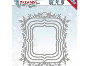 YCD10142 Yvonne Design Die Christmas Dreams, Snowflake Rectangel-0