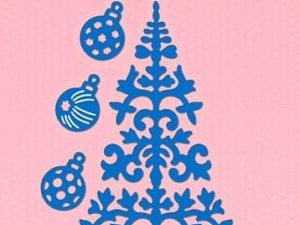 SDB063 Nellie Snellen Die Shape Die Blue - Christmastree & Baubles-0
