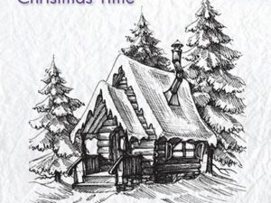 CT022 Nellie Snellen Clearstamps Christmas Time Snowy House 2-0