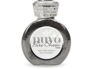 "722N Nuvo Pure Sheen Glitter 100ml ""Steel Grey""-0"