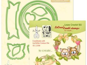 45.5381 Leane Creatief Die Cut/emb/stamp Wreath with pets-0