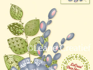 55.5435 Leane Creatief stempel/clearstamp 3D Fantasy Flower-0
