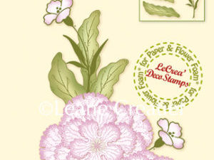 55.5442 Leane Creatief stempel/clearstamp 3D Flower carnation-0