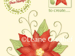55.5466 Leane Creatief stempel/clearstamp 3D Flower Poinsettia-0