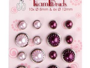 72.4834 Leane Creatief Leane Flower Foam Pearl Brads Pink & Bordeaux-0