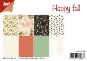 6011/0558 JOY Papirsblok A4 Happy Fall-0