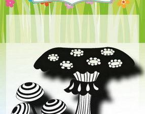 6410/0493 JOY Clearstamp Mushrooms 2-0