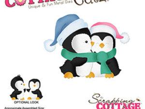 CC-498 Cottage Cutz Die Hugging Penquins-0