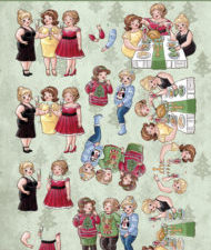 CD11192 Yvonne Design 3D 1 ark Bubbly Girls, Christmas-0