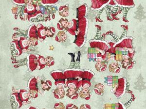 CD11194 Yvonne Design 3D 1 ark Bubbly Girls, Christmas-0
