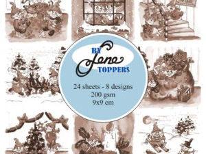 BLT010 By Lene Toppers, Elves & Gnomes Sepia-0
