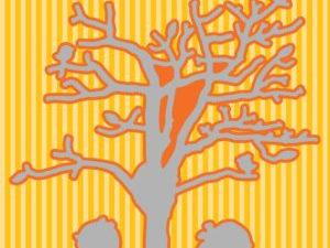 HSDJ034 Nellie Snellen Die Hobby Solution, Cosily under a Tree-8522