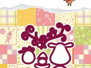 DDD017 Nellie Snellen Die Dada Design Christmas Dies Reindeer-0