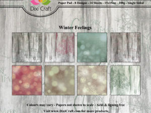 PPL005 Dixi Craft Papirspakning, Winter Feelings, farver-0