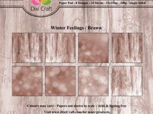PPL009 Dixi Craft Papirspakning, Winter Feelings, Brown-0