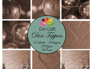 ETL010 Dixi Craft Toppers, Julekugler mm (sepia)-0