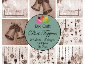 ETL012 Dixi Craft Toppers, Jul (sepia)-0