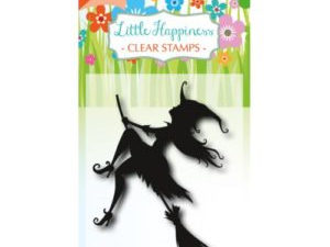 6410/0484 JOY Stempel Clear stamps Little Happiness Flying Witch-0
