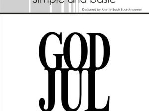 SBD009 Simple and Basic die, God Jul-0