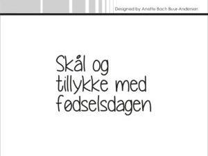 """SBC010 Simple and Basic Stempel """"Skål og tillykke ...""""-0"""
