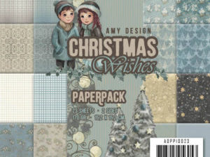 ADPP10023 Amy Design Papirsblok Christmas Wishes-0