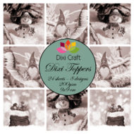 ETL017 Dixi Craft Toppers, Jul (sepia)-0