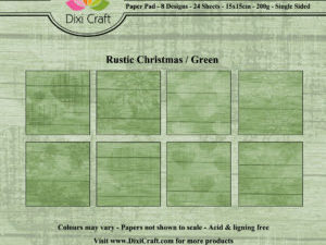 PPL012 Dixi Craft Papirspakning, Rustic Christmas, Green-0