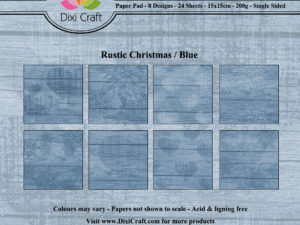 PPL013 Dixi Craft Papirspakning, Rustic Christmas, Blue-0