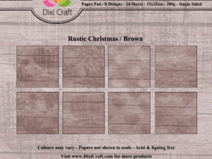 PPL014 Dixi Craft Papirspakning, Rustic Christmas, Brown-0