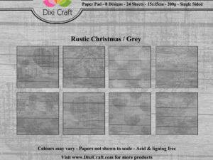 PPL015 Dixi Craft Papirspakning, Rustic Christmas, Grey-0