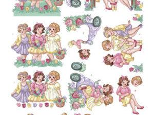 CD11214 Yvonne Design 3D 1 ark Bubbly Girls-0