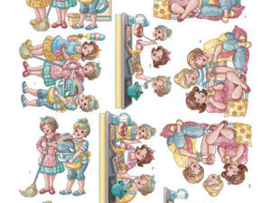 CD11216 Yvonne Design 3D 1 ark Bubbly Girls-0