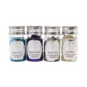 282N Nuvo, Pure Sheen 4 Pack Let it Snow Sequins-0